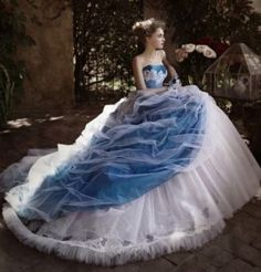 New Strapless Tulle Ball Gown Bridal Dress Wedding Dresses Custom Made Color