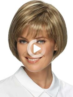 Ellen by Estetica Designs - Synthetic Pure Stretch Cap Wig - The HeadShop Wigs #bobhairstyles Bob Hairstyles With Bangs, Wigs, Hair Cuts, Cap, Pure Products, Hair Styles, Design, Wig, Hairstyle