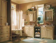 Birch Muslin Bathroom Cabinetry