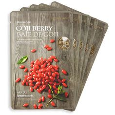 The Face Shop Five-Piece Goji Berry Face Mask Set ($13) ❤ liked on Polyvore featuring beauty products, skincare, face care, face masks, the face shop and the face shop face mask