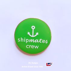Latest badge for the Cunard fleet staff green enamel with, white overprinted wording. Proud to be official accredited ' Silver Award ' supplier since 2006