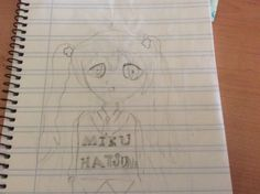 Simple. Dibujo. A lápiz de Hatsune Miku