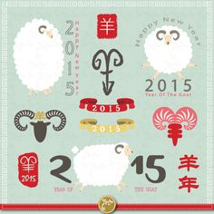 Year Of The Goat 2015 CUTE SHEEPclipart packGoat by YenzArtHaut