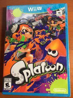 Brand New Sealed in Factory Shrink Wrap Splatoon Game for Nintendo Wii U 2015