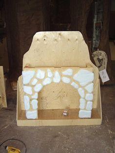 LANCE CARDINAL: INTO THE WOODS - SET DESIGN - cinderella's fireplace