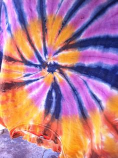 This is what one of my tie dyes looks like after fifteen years of washing and wearing. I made and sold these at the flea markets in the 1990's.  info@dyeandprints.co.za