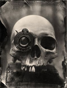 Wet Plate Collodion Photography Print  Skull with by JustinBorucki, $25.00