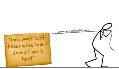 """Hard work beats talent when talent doesn't work hard."" #startup #entrepreneur #motivational"