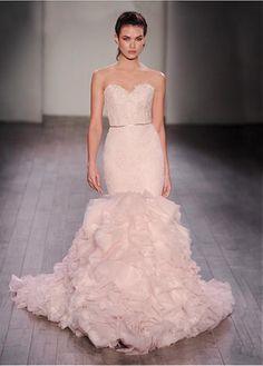 Beautiful Wedding Dress Pink Weddings All The Way