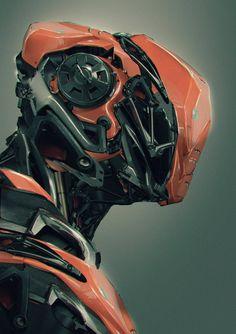 49 ideas cyborg concept art cyberpunk for 2019 Futuristic Robot, Futuristic Armour, Futuristic Design, Gundam, Robot Concept Art, Armor Concept, Robot Design, Helmet Design, Helmet Armor