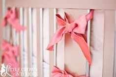 Cute bows for the outside of the crib.