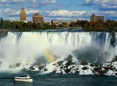 Niagara Falls - USA/Canada wonderful place to visit. we enjoyed the view from the Canadian side of the falls best. Can feel the mist and hear the roar of the falls just looking at this picture. Places Around The World, Oh The Places You'll Go, Places To Travel, Places To Visit, Around The Worlds, Wonderful Places, Great Places, Beautiful Places, Niagara Falls Ny