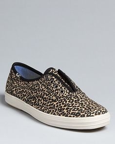 Leopard Laceless Slip On Sneakers  Keds Champion (Bloomingdale's) $45.00