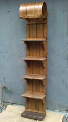 vintage toboggan shelf