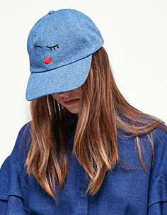 Winky face denim cap - Kape i šeširi Denim Cap, Winter Sale, Baseball Hats, Inspiration, Fashion, Beanies, Sombreros, Caps Hats, Women