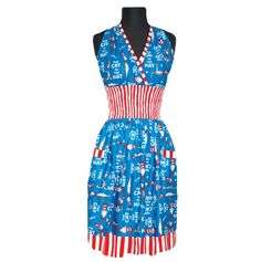Smocked Halter Top Apron - Cat In The Hat - Dr. #Seuss #fashion