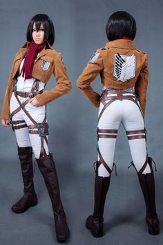 Attack on Titan Jacket Survey Corps Logo Cosplay Costume For Women