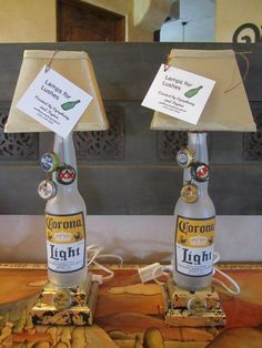 Corona Beer Bottle Lamps > $65 > Lamps for Lushes, LLC on Facebook!