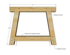 ana white Build the truss beam farmhouse table! Free step by step plans from Farmhouse Dining Room Table, Diy Dining Table, Farmhouse Furniture, Tressel Dining Table, Ana White, Table En Bois Diy, Diy Esstisch, Diy Outdoor Table, Diy Cutting Board