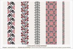 Semne Cusute: Romanian traditional motifs Folk Embroidery, Embroidery Stitches, Embroidery Patterns, Peyote Patterns, Beading Patterns, Cross Stitch Borders, Cross Stitch Patterns, Palestinian Embroidery, Moldova