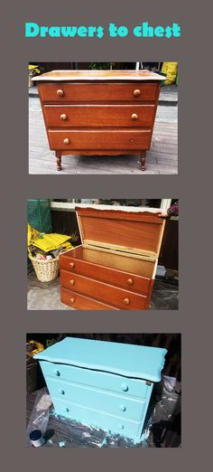 Chest of drawers to chest Chest Of Drawers, Diy, Furniture, Home Decor, Dresser Table, Do It Yourself, Homemade Home Decor, Drawer Unit, Bricolage