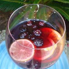 Sangria is a Spanish wine punch that includes chopped fruit and sparkling water for a refreshing summertime cooler. Sangria Cocktail, Cocktail Shots, Wine Cocktails, Cocktail Recipes, Refreshing Drinks, Summer Drinks, Fun Drinks, Alcoholic Drinks, Beverages