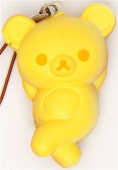 Advertising Enthusiastic Free Shipping 6cm Original Pack Soft Scented Kawaii Rilakkuma Squishy Queeze Toy Cell Phone Pendant Squishies Bread Bear