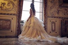 is pure opulence! One gown after another that make you want to scream YES! Gorgeous Wedding Dress, Sexy Wedding Dresses, Stunning Dresses, Wedding Gowns, Wedding Bride, Wedding Dreams, Wedding Bells, Bridal Gowns, Wedding Stuff