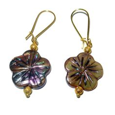 Hawaiian Floral Dangle Earrings by CloudNineDesignz on Etsy