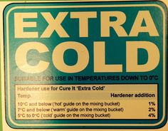 GRP Extra Cold temperature usage Cold Temperature, The Cure, Shop, Products, Gadget, Store