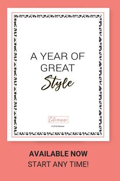 The Year of Great Style suite is gorgeously designed in full colour and includes a Guide, Journal, and 52 weeks of Planner templates.Simply start -- at any time of the year -- with what you already have in your closet & minutes once a week. Sustainable Style, Sustainable Fashion, Make You Feel, How Are You Feeling, Wardrobe Planner, Eureka Moment, Daily Calm, Confirmation Page, 52 Weeks