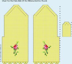 Очень красивые варежки крючком с розами (2) (700x620, 78Kb)