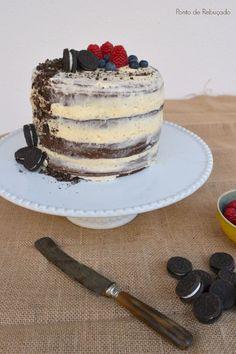 Ponto de Rebuçado Receitas: Naked Cake de Chocolate com Buttercream, frutos ve...