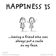 Friendship and smiles Bff Quotes, Best Friend Quotes, Friendship Quotes, Love Quotes, Qoutes, Cute Happy Quotes, Happy Quotes Inspirational, Make Me Happy, Are You Happy