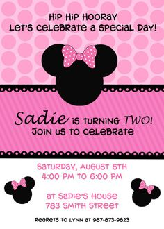 Minnie Mouse Invite!  One of my favs!