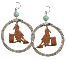 Copper Barrel Racer Earrings