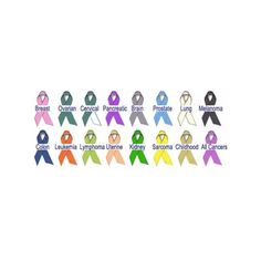 Meaning of cancer ribbon colors
