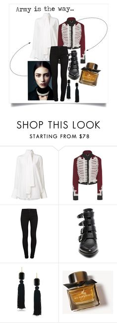 """""""AITW"""" by xxelectre on Polyvore featuring Burberry, J Brand, Steve Madden e Trina Turk"""
