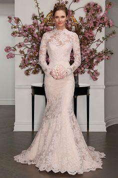 Blush la vie en rose lace wedding dress with detachable overblouse. Legends Romona Keveza Spring 2017 Bridal Collection, Bridal Fashion Week