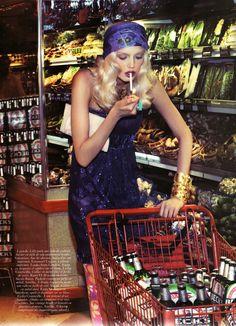 """""""Le Goût des Robes""""  Lily Donaldson by Steven Klein for Vogue Paris October 2007"""