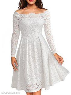 fd0c19e3433 ... Slash neck Dresses Length  Above Knee