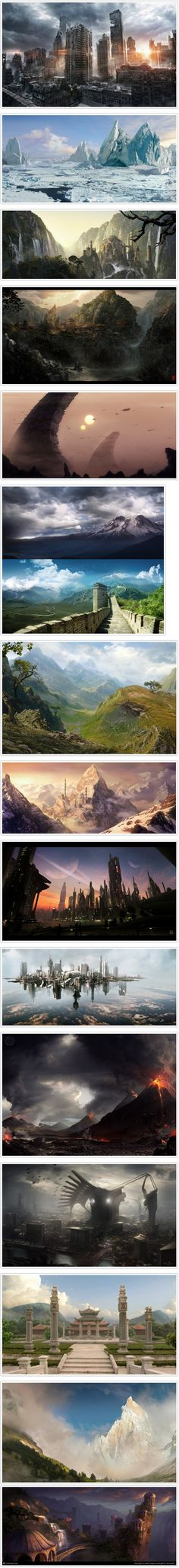 Best 16 Creative and Realistic Matte Paintings