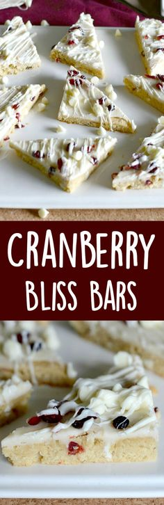 Cranberry bliss bars!  Make these Starbucks seasonal treat at home for a fraction of the cost!