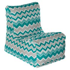 Add+a+pop+of+pattern+to+your+sunroom+or+deck+with+this+chic+beanbag+chair,+offering+a+bold+on-trend+design.+ Product:+Beanbag+chair