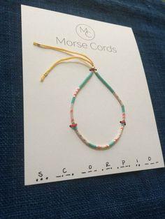 Morse Code Bracelet Scorpio by morsecords on Etsy