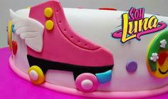 Roller Skating Party, Skate Party, Cupcakes, Cupcake Cakes, Soy Luna Cake, Roller Skate Cake, Tie Dye Cakes, Crazy Cakes, Son Luna