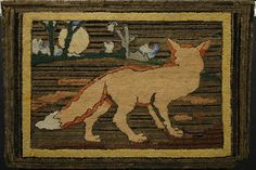 red fox and full moon, artist unknown, Art Gallery of Nova Scotia