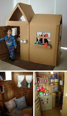 BRILLIANT CARDBOARD PLAYHOUSE. mommo design: CARDBOARD FUN
