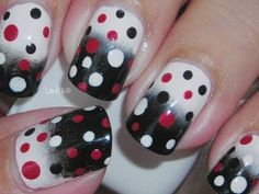 Someone, please take the makeup sponges away from me!!!! I just can't help it. I must keep making sponging looks.  One of the Facebook gang requested an off white, red and black design. I hope you like it!  Products/Productos  Sally Hansen Nail Growth Miracle  Bettina - Marshmallow  Bettina - Onix  ...