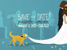 playful, illustrated save the date